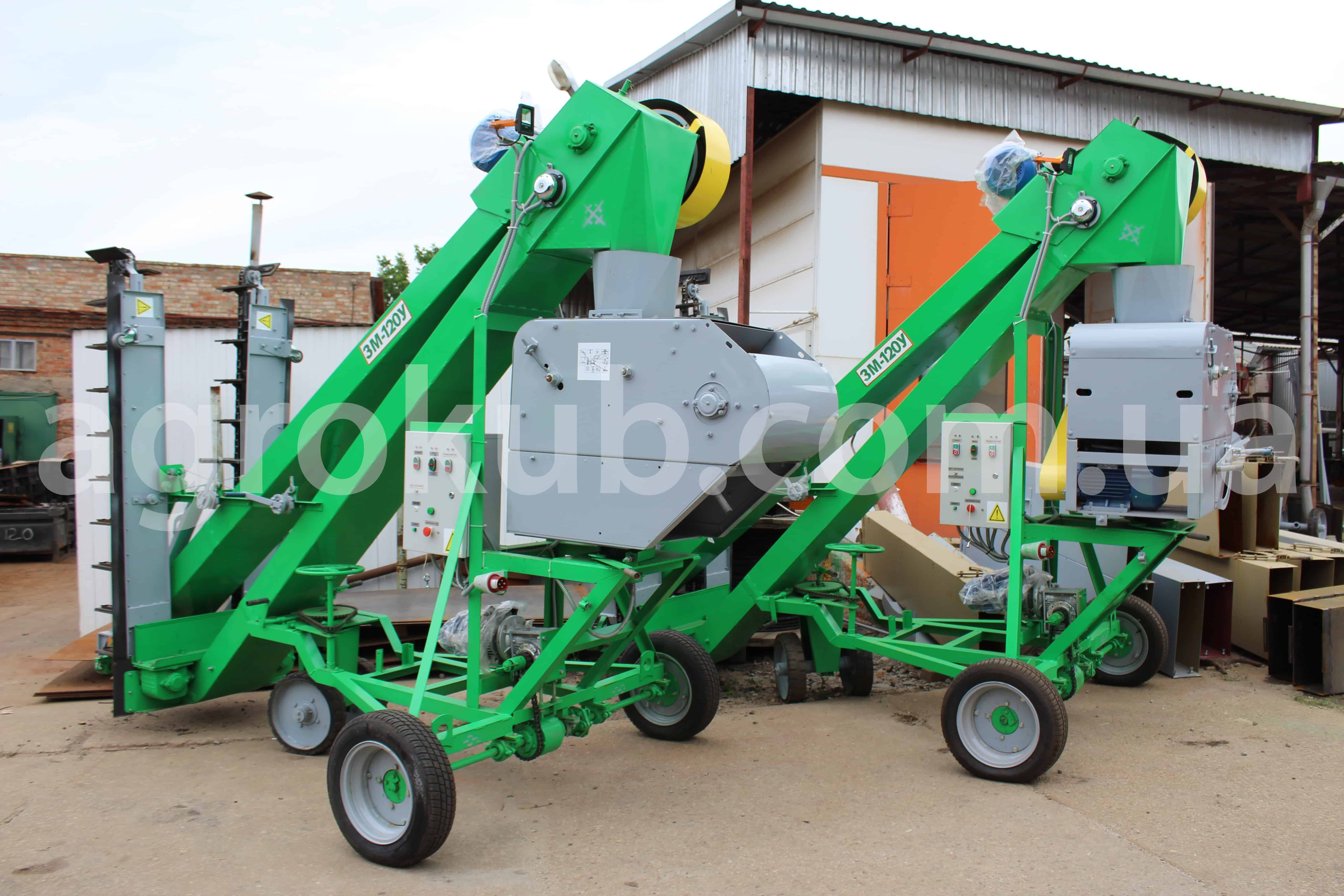 Зернометатель (зернопогрузчик) ЗМ-120У